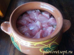 мясо в духовке рецепт в горшочках