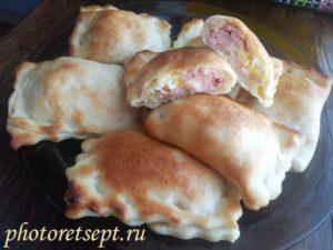 пироги с ветчиной и сыром рецепт