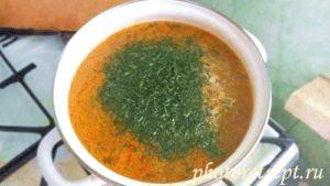 зелень в борщ с молодой картошкой суп