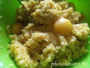 яйца добавить в рис
