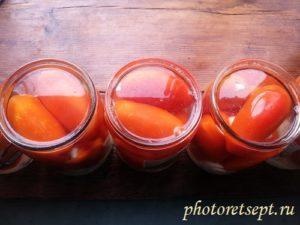 залить томаты маринадом
