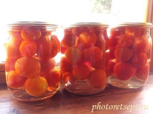 рецепт маринованных томатов на зиму сладких