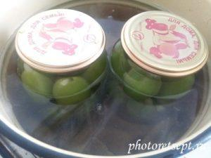 стерилизация банок с зелеными томатами