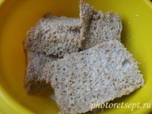 хлеб вымочить в молоке