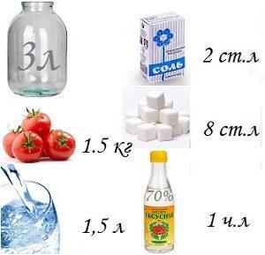 маринад сладкий для помидоров на 1,5 литра