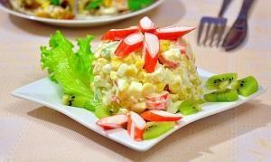 салат кукуруза крабы