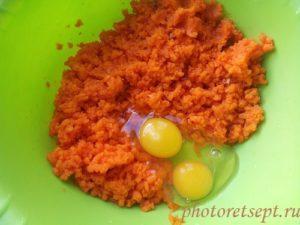 яйца с вареной морковкой