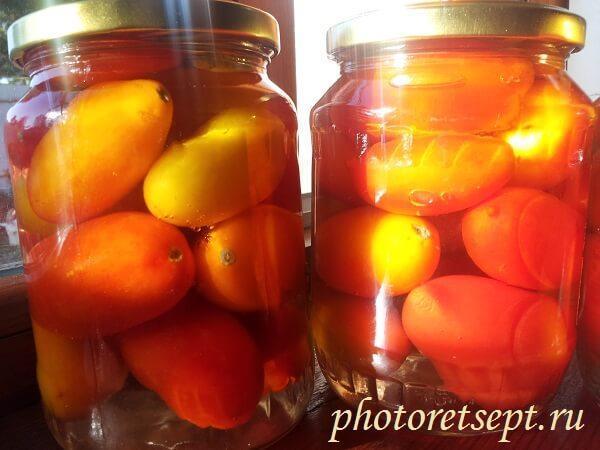 острые помидоры на зиму рецепт