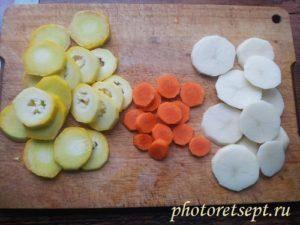 овощи кружками