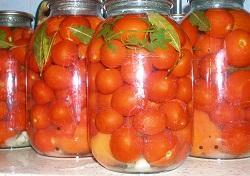 маринованные томаты на зиму острые рецепт