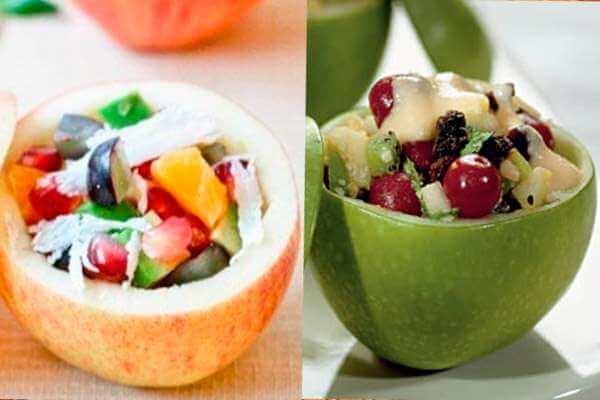 салатница из яблок