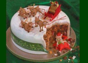 смешное новогоднее украшение торта