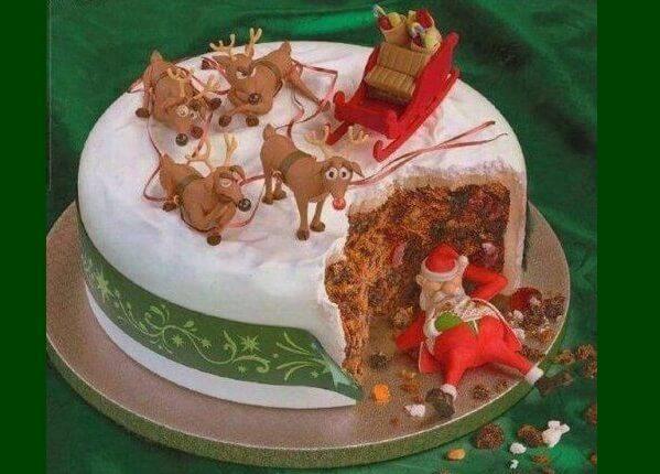 Как украсить торт на Новый 2019 год | новогоднее украшение изоражения