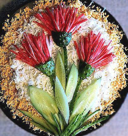астры украшение салата