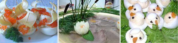 варианты украшений для салатов