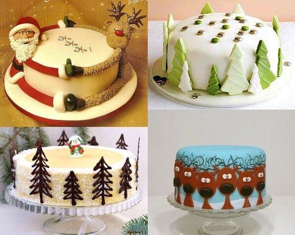 Как украсить торт на Новый 2019 год | новогоднее украшение в 2019 году