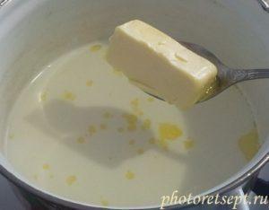 сливочное масло в молоко