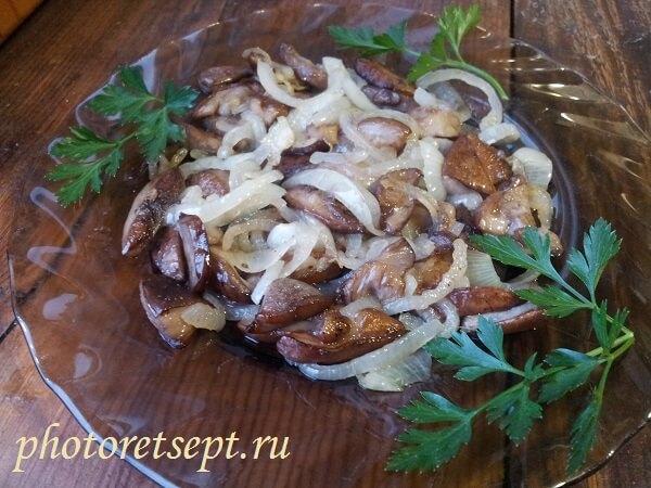 жареные подберезовики рецепт с фото