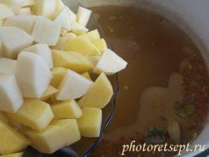 бульон для супа с адыгейским сыром