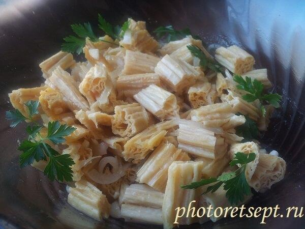 салат из соевой спаржи рецепт