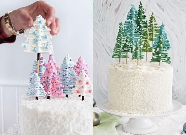 елочки на торт