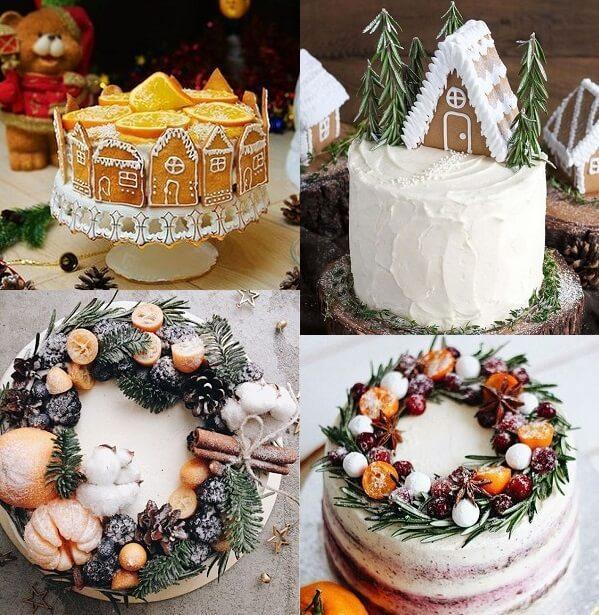 Как украсить торт на Новый 2019 год | новогоднее украшение