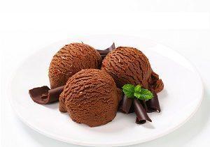 шоколадное домашнее мороженое