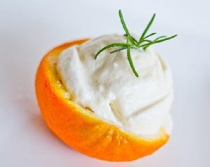 творожное апельсиновое домашнее мороженое