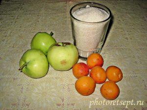 яблоки абрикосы сахар