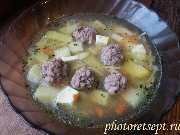 суп рецепт с фрикадельками