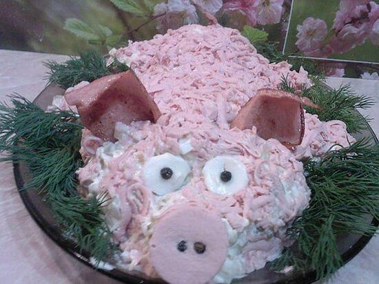 свинья салат 2019