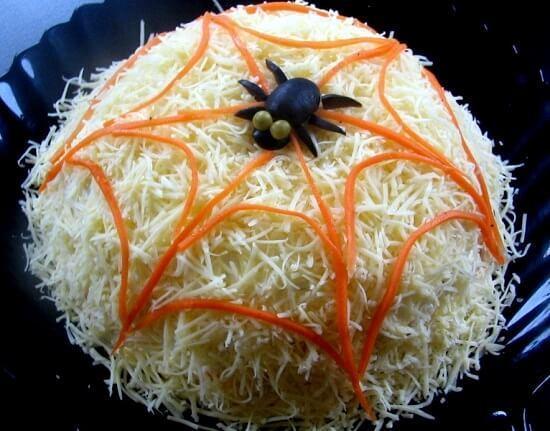 салат паутинка новый год