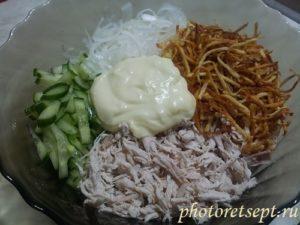 ингредиенты салата гнездо глухаря