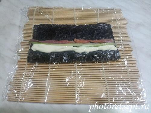 рыба в домашние суши