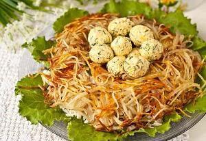 рецепт с говядиной гнездо