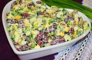 салат любимый муж с фасолью