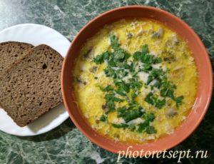 грибной суп сливочный рецепт