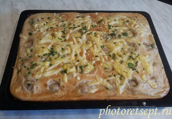 заливной пирог с фаршем рецепт