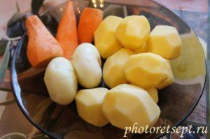 очистить овощи