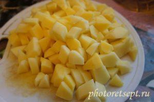 картофель кубики