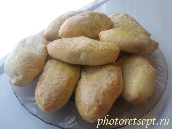 пирожки в духовке с рисом и печенью