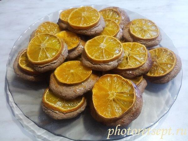 мандариновое овсяное печенье