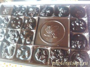 конфеты разлить по формам