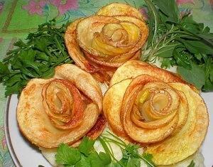 картофельные розочки