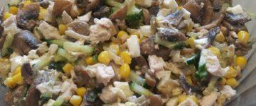 салат с курицей вкусный рецепт