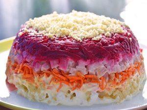 слои салат на скорую руку