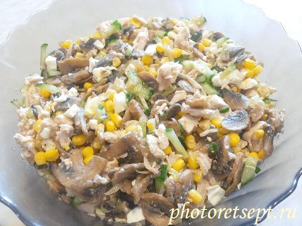 салат из куриной грудки простой