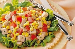салат консервированный легкий