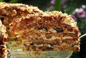 торт из печенья с творогом
