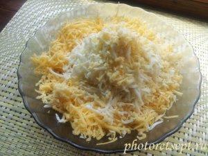 сыр яйцо тертые